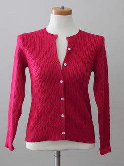 JCREW Light Summer raspberry classic cardigan