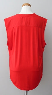 CALVIN KLEIN Bright Spring red top