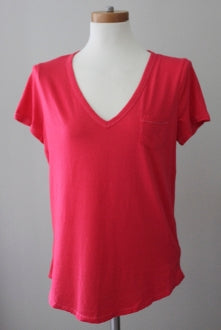 warm spring bright coral pink GAP t-shirt