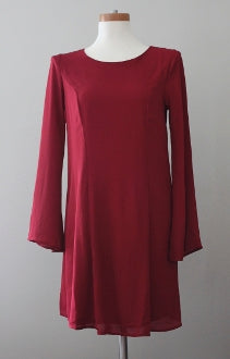 EVERLY Dark Autumn wine dress