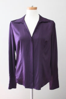 KATE HILL Dark Winter sangria blouse