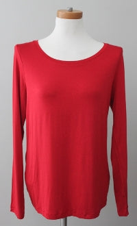 CABLE AND GAUGE Warm Autumn scarlet tee