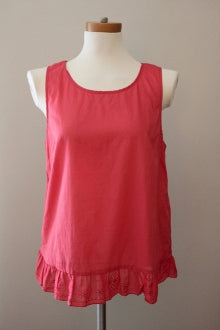 JOE FRESH Light Spring Pink Ruffle top