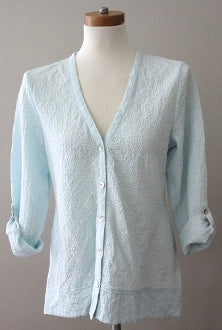 HABITAT Cool Winter ice blue button crinkled shirt