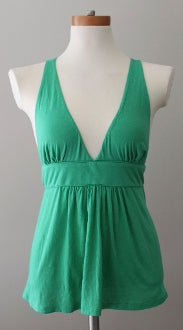 warm spring  J CREW  green sleeveless empire waist top