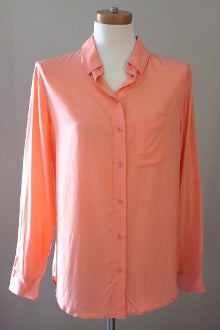warm spring BANANA REPUBLIC sherbet button-down shirt