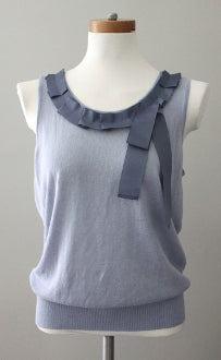ANN TAYLOR LOFT Soft Summer gray on silver top
