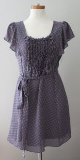 MM COUTURE by MISS ME feminine Cool Summer romantic slate dress