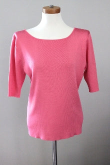 DANA BUCHMAN Light Spring sunglow pink sweater