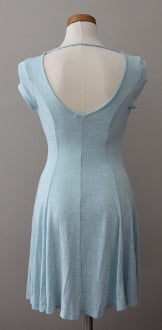 ACEMI Cool Summer tide soft blue dress