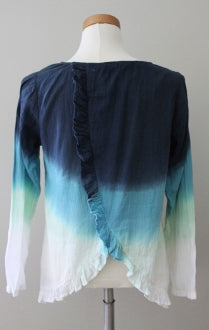 SUBTLE LUXURY Soft Summer watercolor blues top