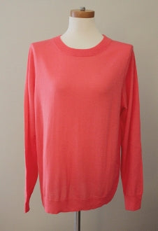 J CREW Bright Spring peachy pink sweater