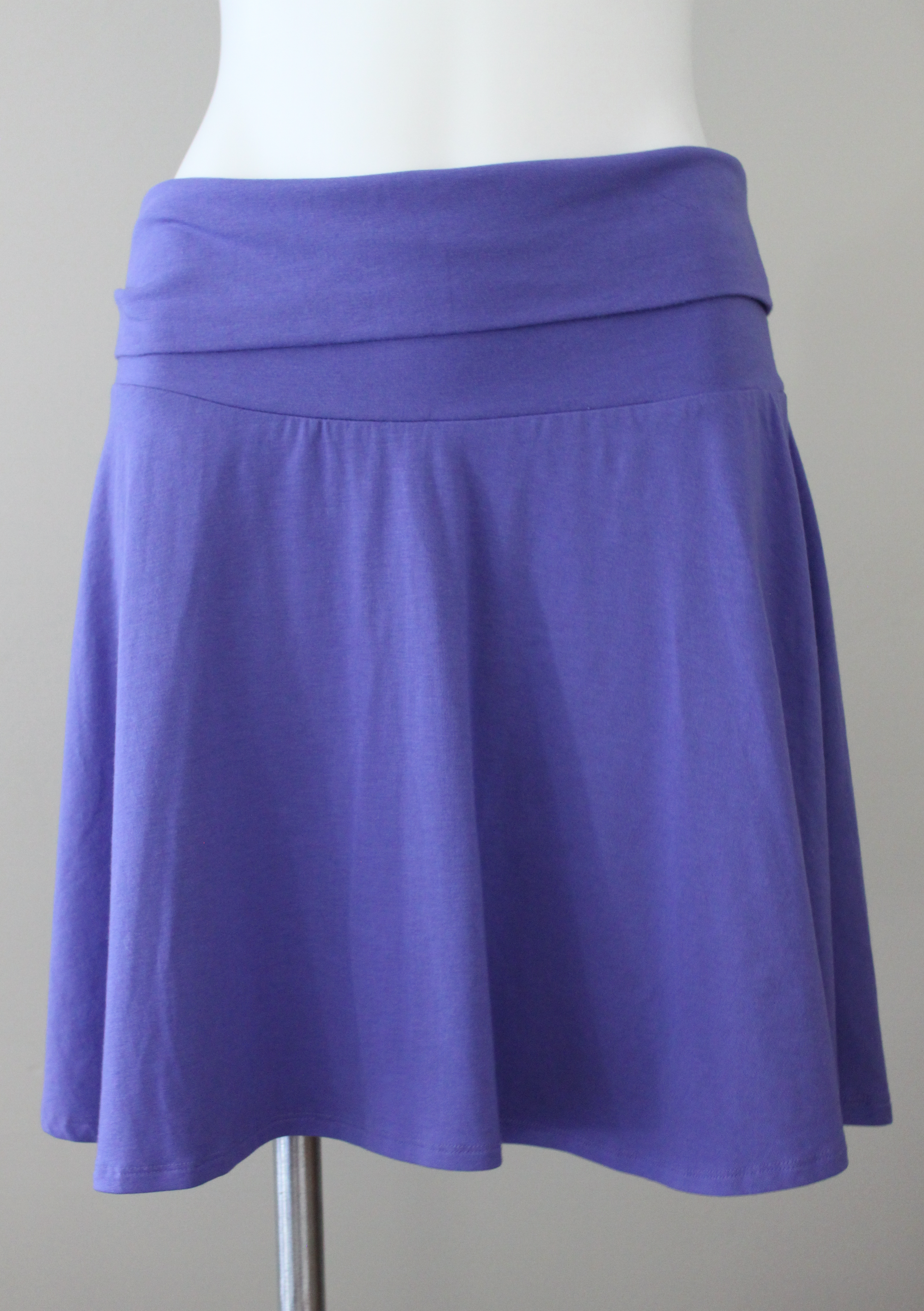 Light Summer Purple Knit Skirt