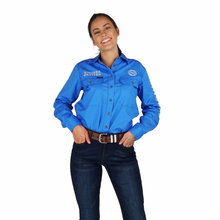 Load image into Gallery viewer, Ringers Western Signature Jillaroo Womens Full Button Embroidered Work Shirt