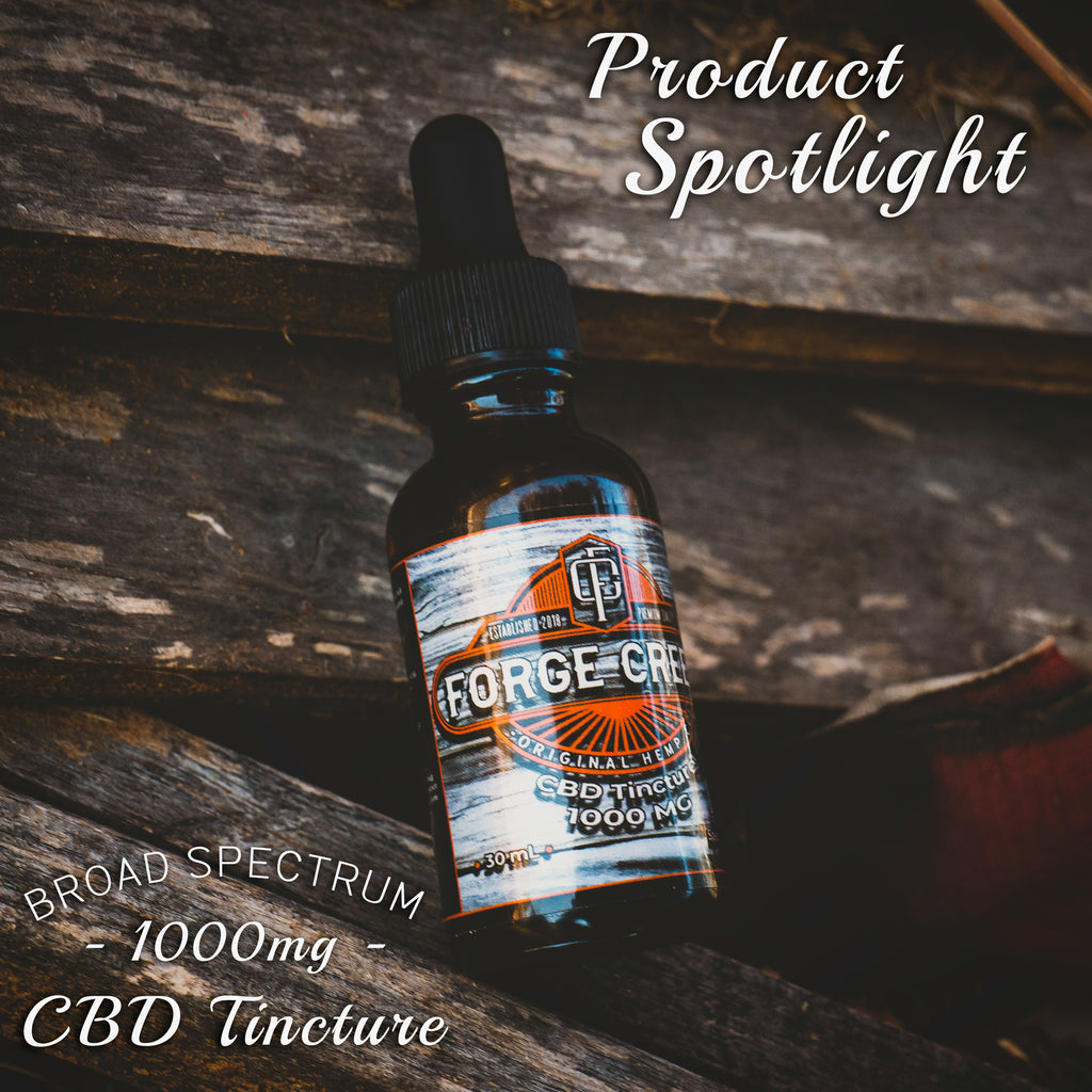 Product Spotlight: 1000mg Broad Spectrum CBD Tincture