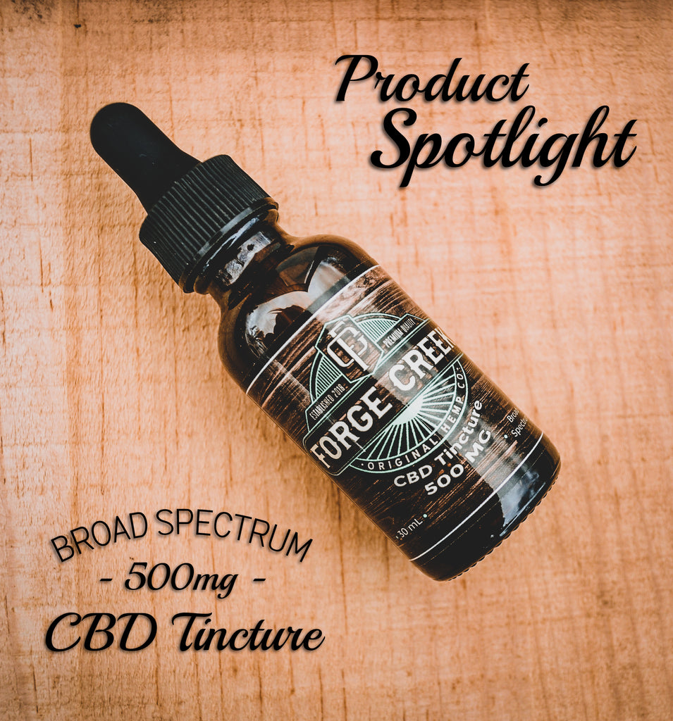 Product Spotlight: 500mg Broad Spectrum CBD Tincture