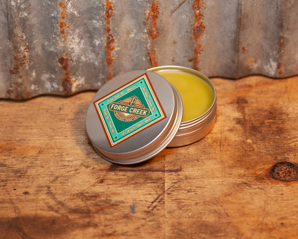 Round Tin Can Teal Diamond Label All Natural Beard Balm