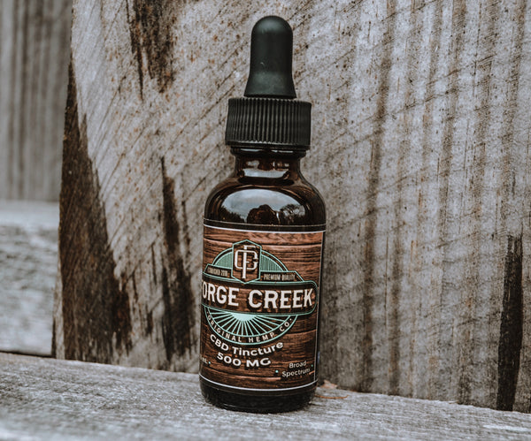 Forge Creek Tincture on pallet.