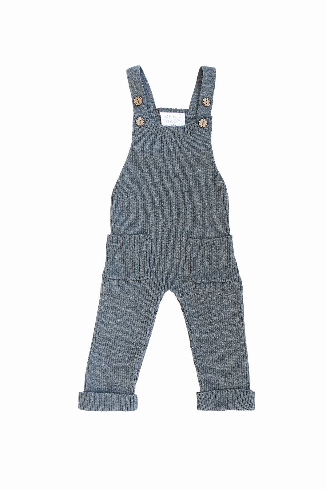 Knit Overalls in Charcoal