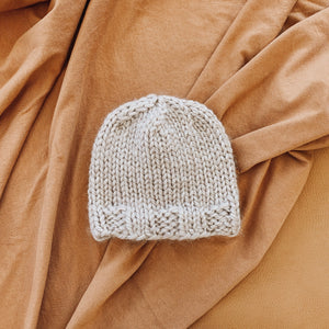 Solid Knit Hat in Latte