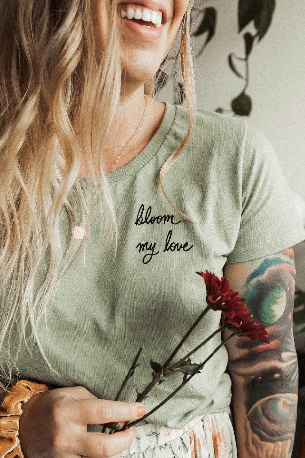 Bloom My Love - Women's - Natural/Green