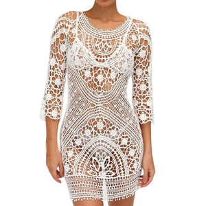 Crochet Sexy Beachwear Cover-up Dress