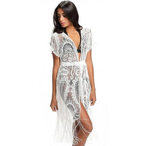 Loose Lace Swimwear Cover-up Dress