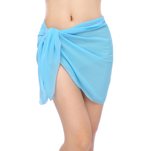 Solid Chiffon Beach Skirt