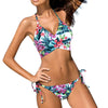 Floral Push Up Low Waist Bikini Set