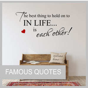 Famous Quotes Wall Stickers