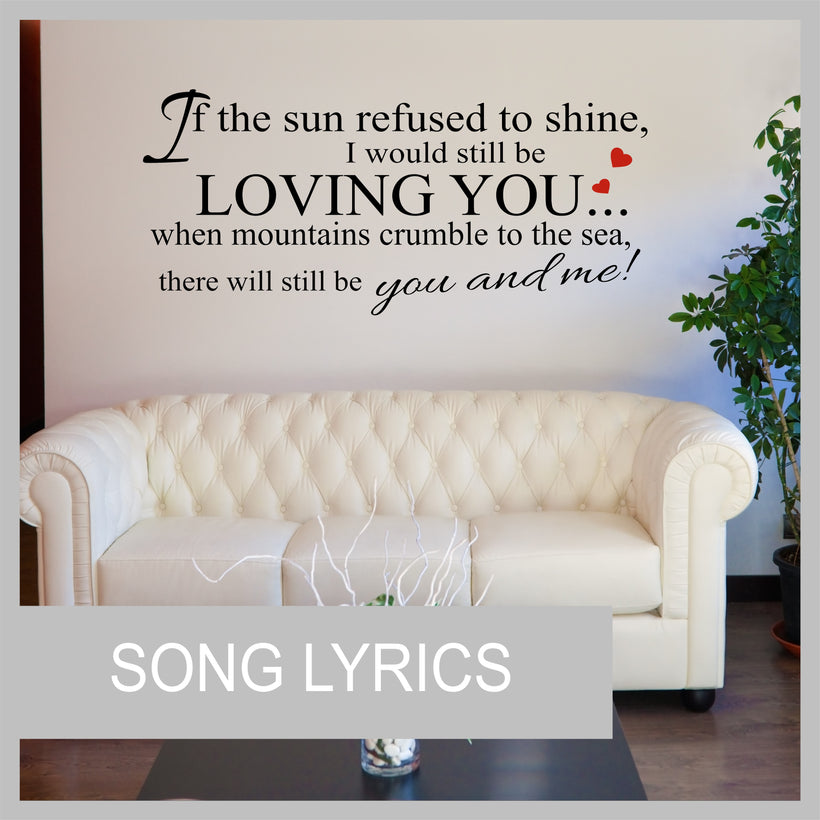 Song Lyric Wall Stickers