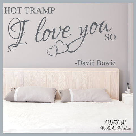 FREE UK Delivery Wall Stickers and Decals - David Bowie Rebel Rebel. - Walls Of Wisdom