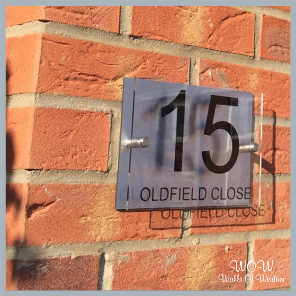 FREE UK Delivery Personalised House Sign House Number Street Name - Walls Of Wisdom