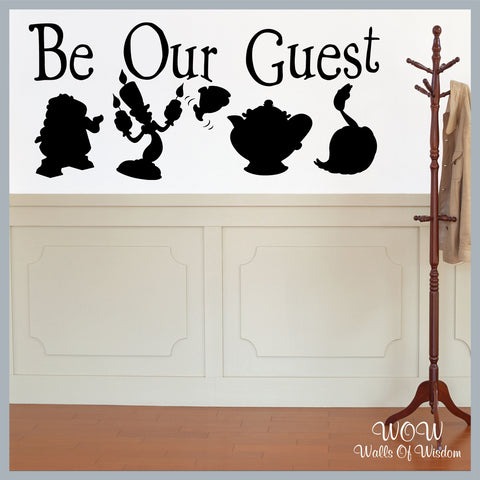 FREE UK Delivery Wall Stickers & Decals - Disney Be Our Guest - Beauty and the Beast. - Walls Of Wisdom