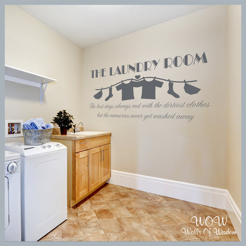 FREE UK Delivery Wall Stickers & Decals - The Laundry Room - Memories - Walls Of Wisdom