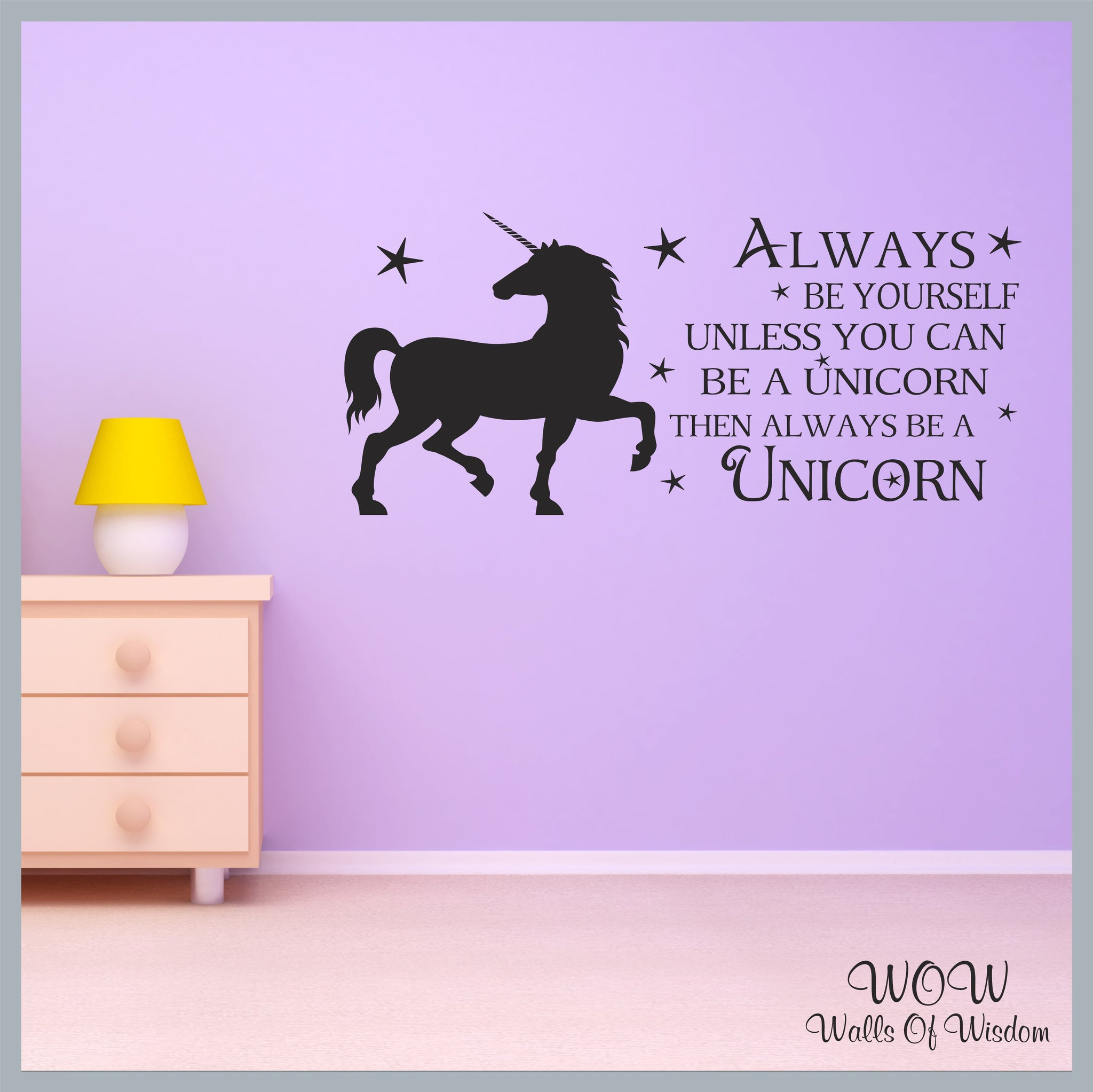 FREE UK Delivery Wall Stickers & Decals - Unicorn Always Be Yourself. - Walls Of Wisdom