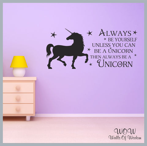 FREE UK Delivery Wall Stickers & Decals - Unicorn Always Be a Yourself. - Walls Of Wisdom