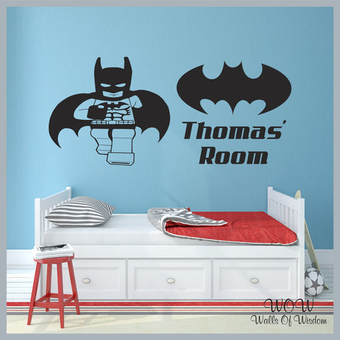 FREE UK Delivery Wall Stickers & Decals - Personalised Lego Batman - Walls Of Wisdom