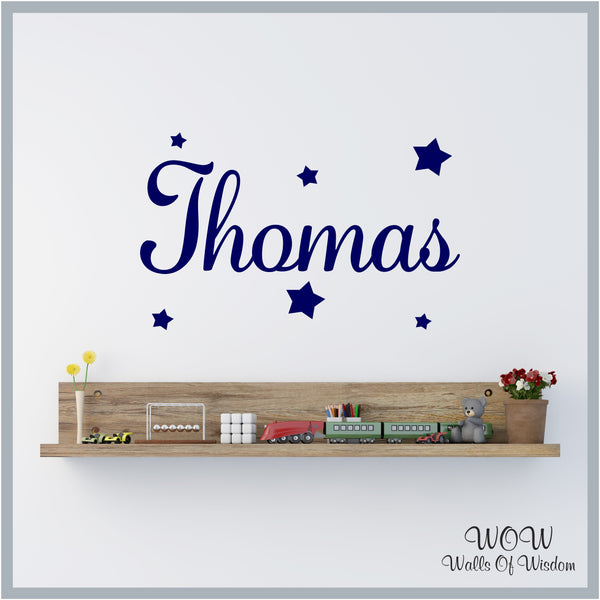 FREE UK Delivery Wall Stickers & Decals - Personalised Name Wall Art Sticker - Walls Of Wisdom
