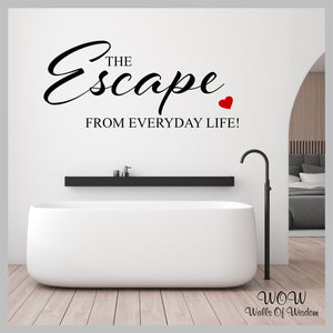 FREE UK Delivery Wall Stickers & Decals - Escape Bathroom Wall Sticker - Walls Of Wisdom
