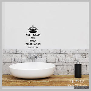 Keep Calm And Wash Your Hands Sticker Wall Sticker Wall Decal Mirror Sticker