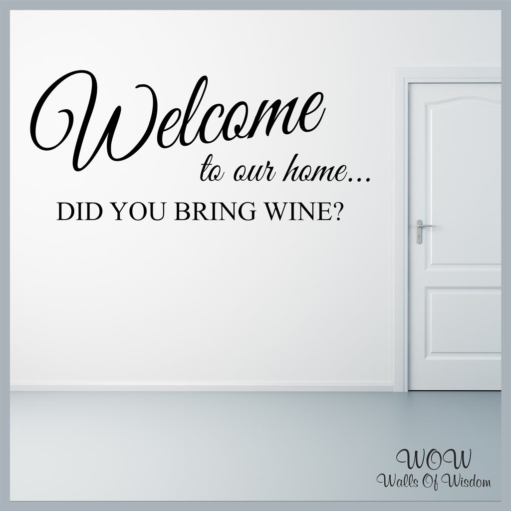 FREE UK Delivery Wall Stickers and Decals - Funny Welcome To
