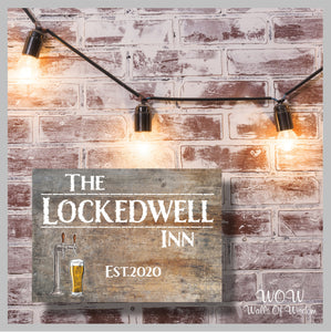 Home Bar Pub Signs Doors/Walls Sign 3mm Plastic Foam Board - The Lockdown Inn Bar Sign
