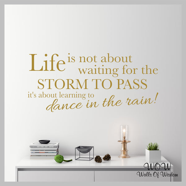 FREE UK Delivery Wall Stickers & Decals - Dance In The Rain - Walls Of Wisdom