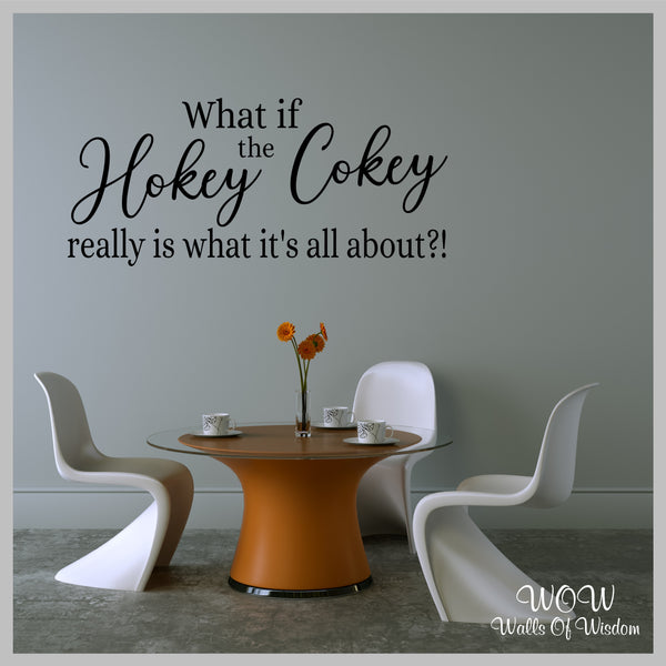 FREE UK Delivery Wall Stickers & Decals - The Hokey Cokey - Walls Of Wisdom