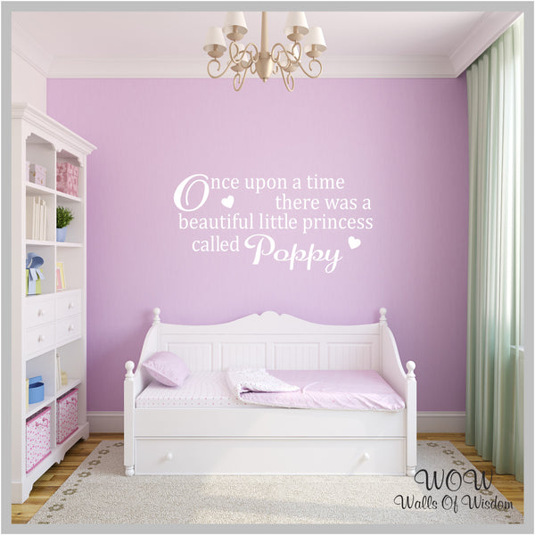 FREE UK Delivery Wall Stickers & Decals - Personalised Once Upon a Time Wall Sticker. - Walls Of Wisdom