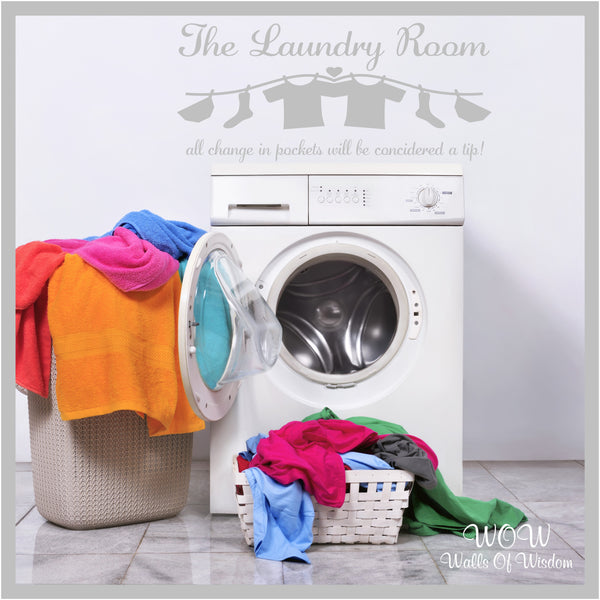 FREE UK Delivery Wall Stickers & Decals - The Laundry Room Funny Wall Sticker - Walls Of Wisdom
