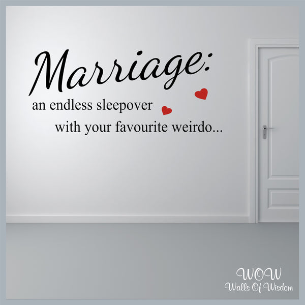 FREE UK Delivery Wall Stickers & Decals - Marriage - Walls Of Wisdom