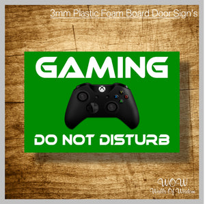FREE UK Delivery Personalised Door Sign 3mm Plastic Foam Board - XBOX Gaming