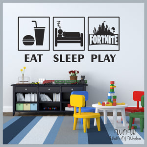 FREE UK Delivery Wall Stickers & Decals - Fortnite Play Gamer Inspired - Walls Of Wisdom